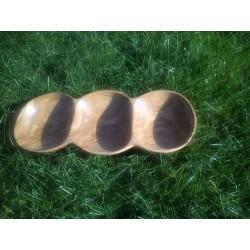 3 vietų uosio medienos padėklas be rankenų 1