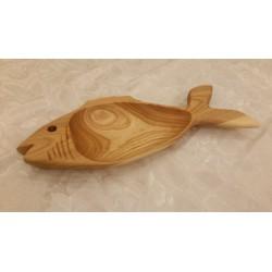 Medinė lėkštė Žuvis