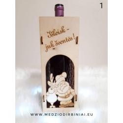 Kalėdinė butelio nešyklė 2
